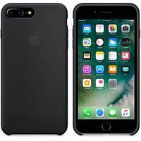 Чехол силиконовый на айфон Silicone Case для iPhone 7 / 8 PLUS black черный