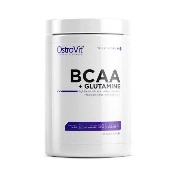 ВСАА Аминокислоты OstroVit BCAA+Glutamine 500 g натуральный вкус
