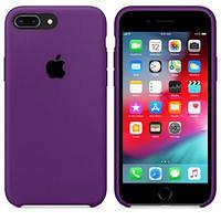Чехол силиконовый на айфон Silicone Case для iPhone 7 / 8 PLUS purple фиолетовый