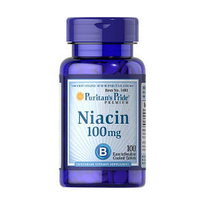 Витамин В3, Ниацин Puritan's Pride Niacin 100 mg 100 tabs