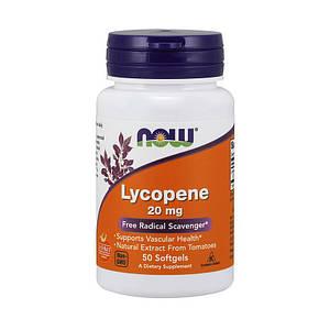 Ликопин NOW Lycopene 20 mg 50 softgels