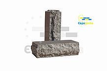 Облицовочный кирпич серый скала тычковой 220х100х65мм