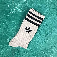 Носки Высокие Женские Мужские Adidas Адидас Серые 39-43