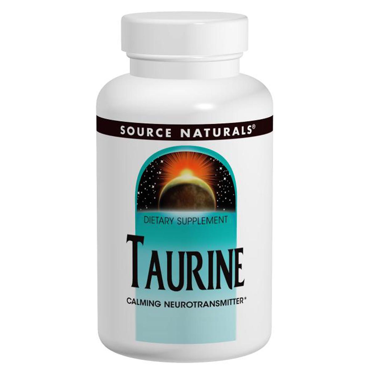 Таурин, 500 мг, Source Naturals, 60 таблеток