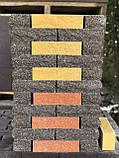 Фасадный кирпич черный колотый полнотелый, 250х100х65мм, фото 9