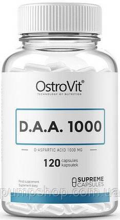 Д-аспаргиновая кислота OstroVit DAA 1000 120 капс., фото 2