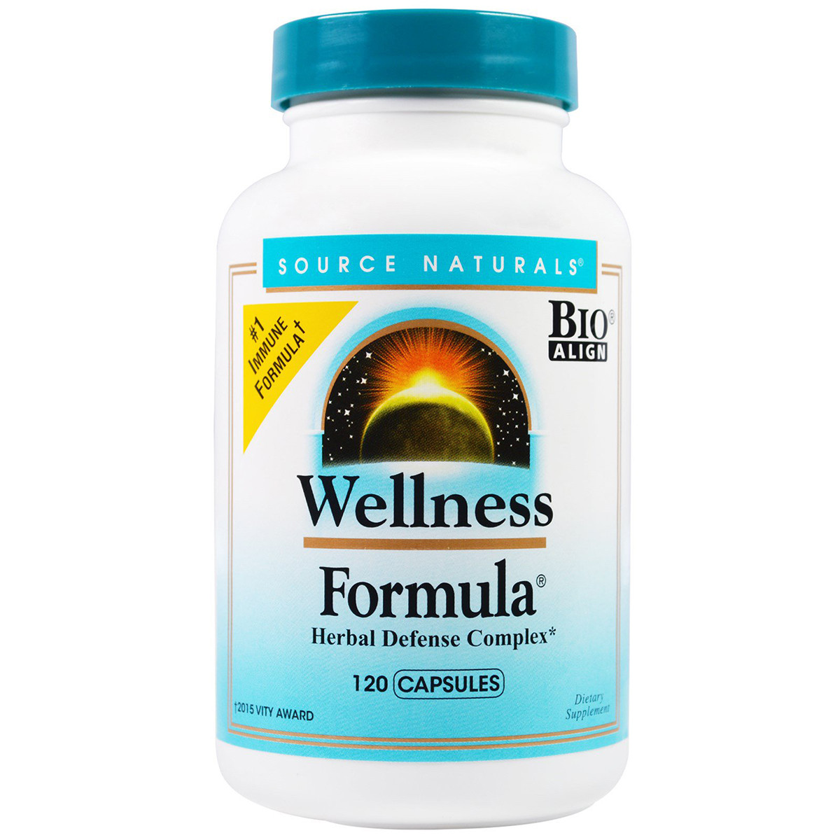 Защитный иммунный комплекс, Source Naturals, Wellness Formula, 120 растительных  капсул