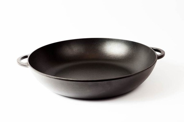 Сковорода чугунная (жаровня), эмалированная, d=400мм, h=90мм