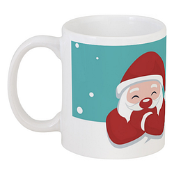 Кружка Santa and Reindeer (белая)