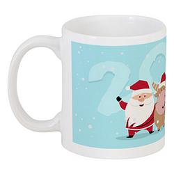 Кружка Santa and Reindeer 2 (белая)
