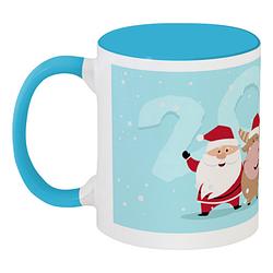 Кружка Santa and Reindeer 2 (голубая)