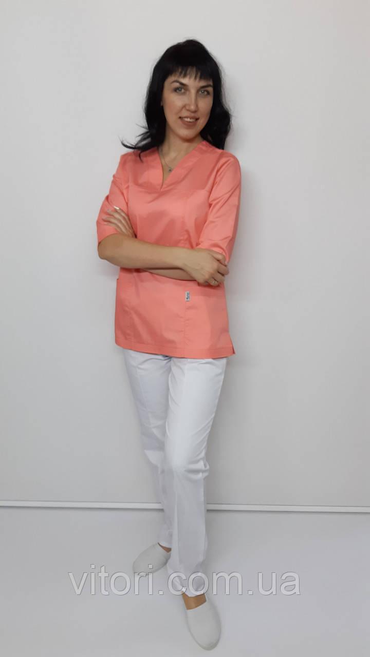 Женский медицинский костюм Кенди коттон три четверти рукав