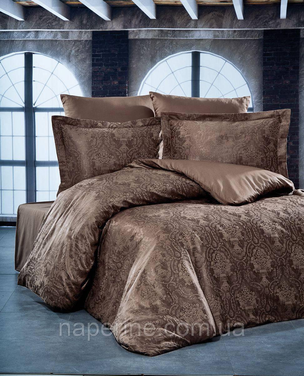 Жаккардовое постельное белье Nazenin евро размер Турция