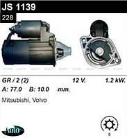 Стартер Mitsubishi Carisma Colt Pejero Lancer Space / Volvo S40 V40 1.6 1.8 2.0 /1.2 кВт z8/ JS1139