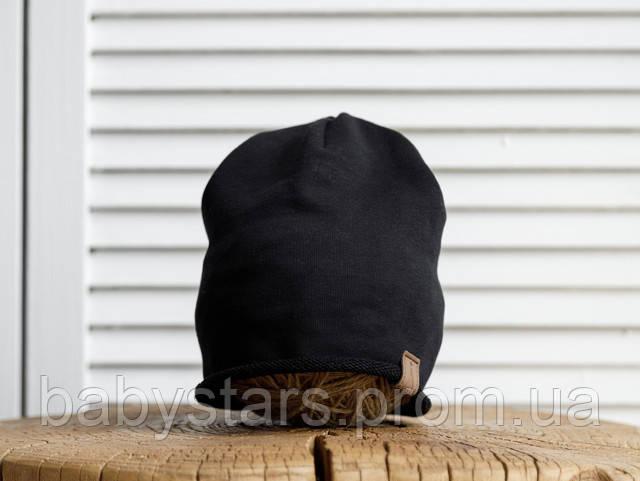 Шапка демисезонная черная