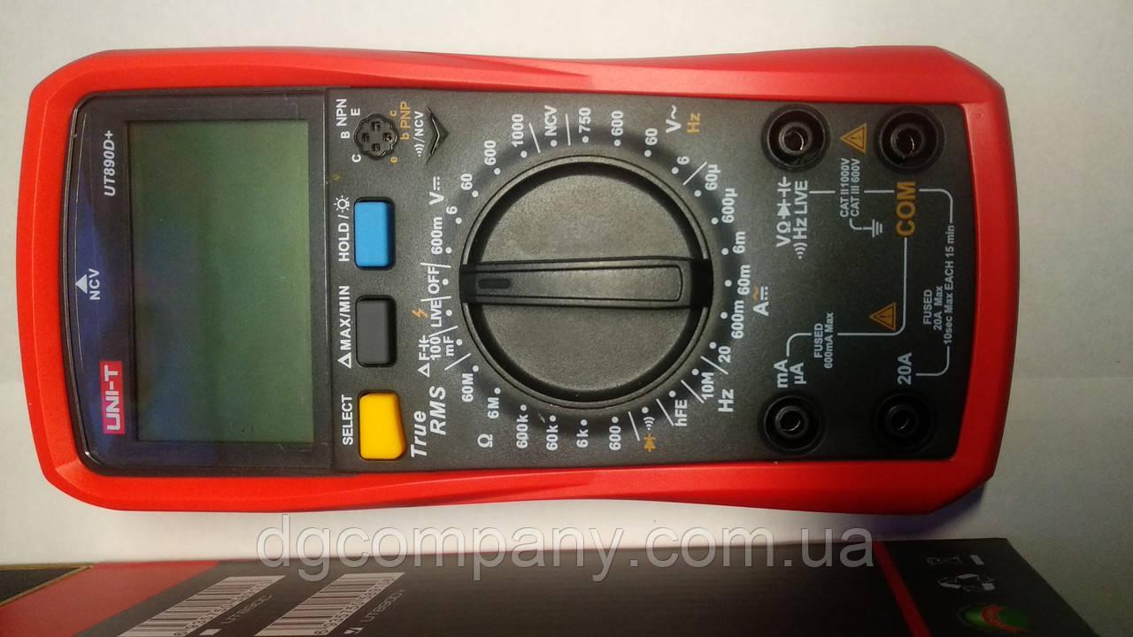 Цифровой мультиметр Uni-T UT890D+