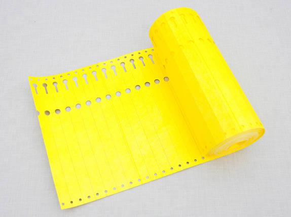 Етикетки-петля для рослин TYVEK 1,7 х 22 см, 1000 шт, жовті - Тивек, фото 2