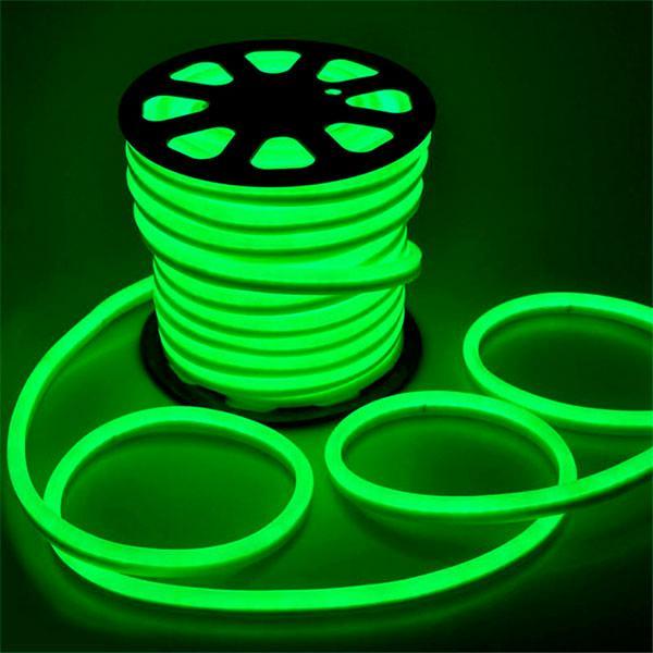 Світлодіодний неон #54-G зелений 12V 6W/м SMD2835 вологозахищений AVT
