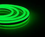 Світлодіодний неон #54-G зелений 12V 6W/м SMD2835 вологозахищений AVT, фото 2