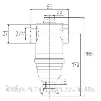 """Фильтр для воды тонкой очистки с магнитом Icma 3/4"""", фото 2"""