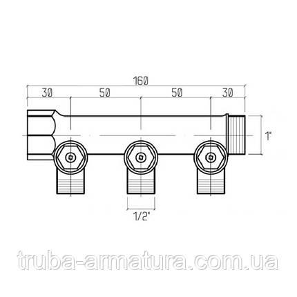 "Колектор Icma 1"" 3 виходи №227, фото 2"