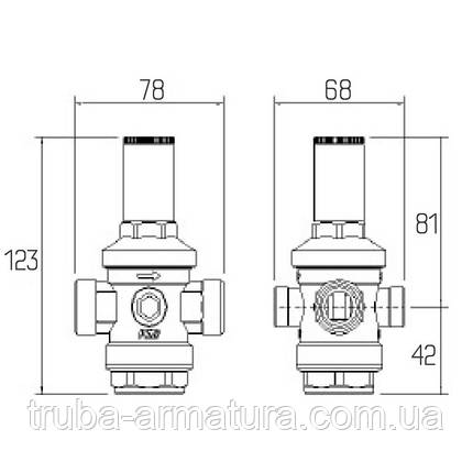 "Редуктор тиску води Icma 1/2"", фото 2"