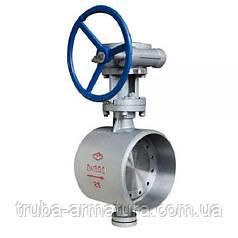 Затвор дисковый приварной с эксцентричным диском стальной, Ду 450 / диск-сталь / нж сталь / PN25