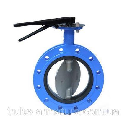 Затвор дисковый поворотный фланцевый чугунный, Ду 80 / диск-нж сталь 316 / VITON / PN16, фото 2