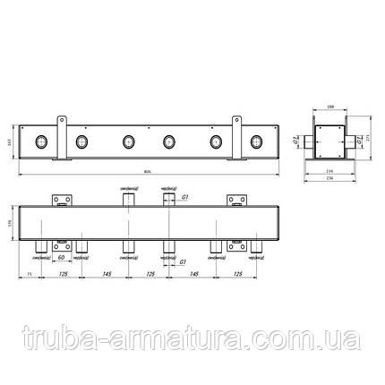 """Коллектор распределительный Thermo Alliance 250 кВт 2"""", 3 выхода, фото 2"""