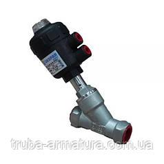 Пневматический клапан муфтовый нержавеющий, Ду 40 / PTFE / PN8