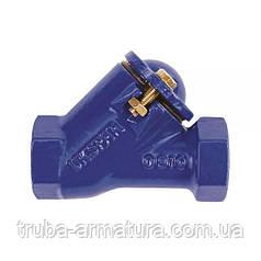 Обратный клапан шаровой муфтовый чугунный, Ду 40 / шар-сталь + NBR / PN16