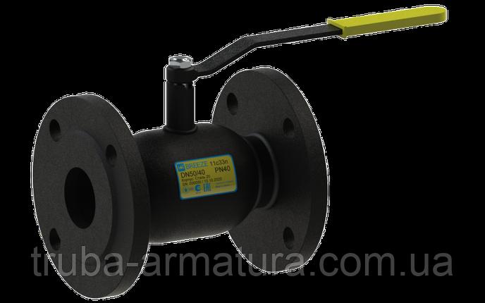 Кран кульовий сталевий 11с33п Ду50/40 PN16, фото 2