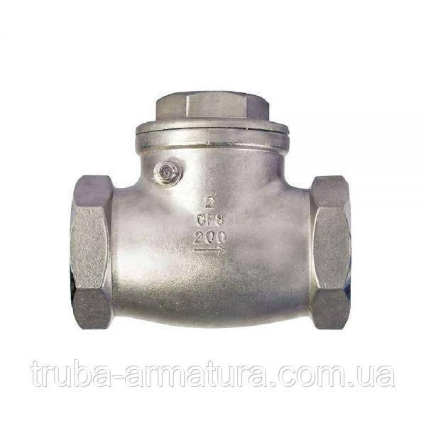 Обратный клапан поворотный муфтовый нержавеющий, Ду 25 / тарелка-нж сталь 316 / PN16