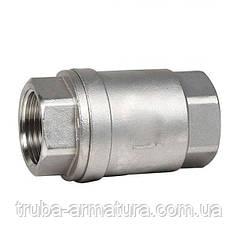 Обратный клапан муфтовый нержавеющий, Ду 20 / тарелка-нж / PTFE / PN16