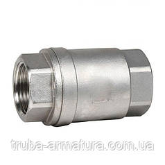 Обратный клапан муфтовый нержавеющий, Ду 32 / тарелка-нж / PTFE / PN16
