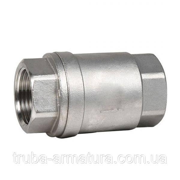 Обратный клапан муфтовый нержавеющий, Ду 40 / тарелка-нж / PTFE / PN16