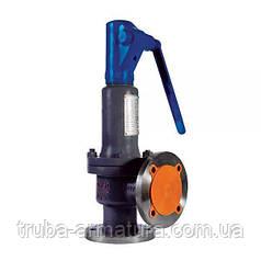 Клапан предохранительный пружинный угловой полноподъемный фланцевый стальной, Ду 80/125 / PN16
