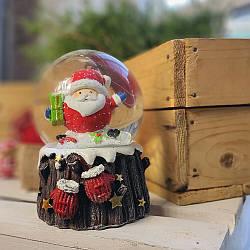 Водяной снежный шар Санта (бол.)