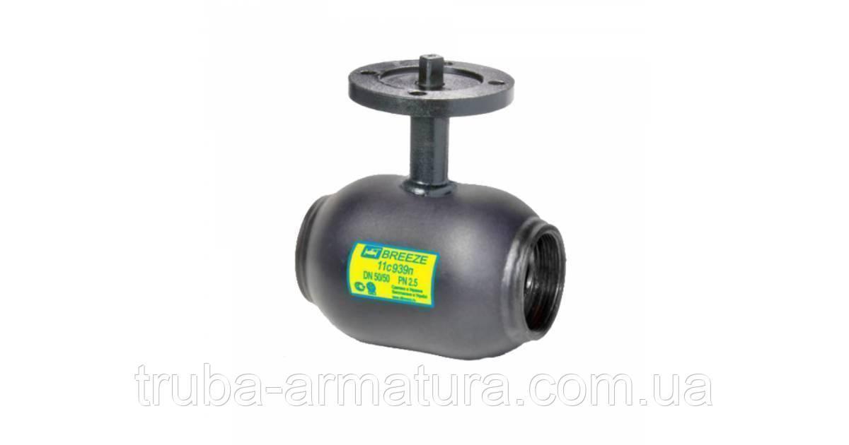 Кран шаровый стальной 11с939п Ду65/65 PN25 полный проход