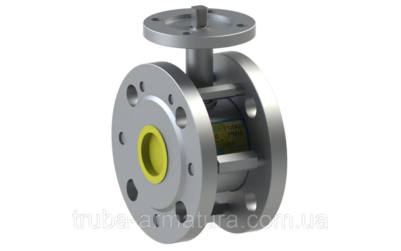 Кран кульовий сталевий 11с942п Ду125/10 PN16 під електропривод
