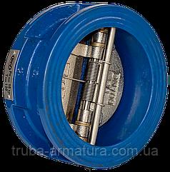 Клапан обратный чугунный 2-створчатый подпружиненный РУ16 ДУ65