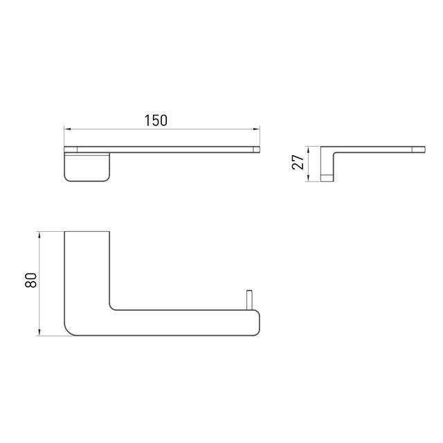 Тримач для туалетного паперу Volle De la Noche 10-40-0040-black