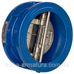 Клапан обратный чугунный 2-створчатый подпружиненный РУ16 ДУ250