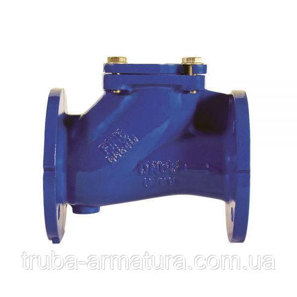 Обратный клапан шаровой фланцевый чугунный, Ду 350 / шар-сталь + NBR / PN16