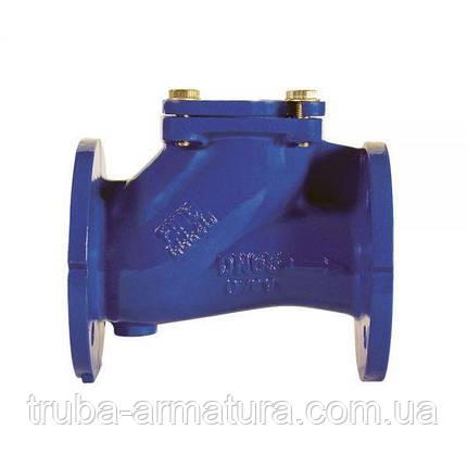 Обратный клапан шаровой фланцевый чугунный, Ду 350 / шар-сталь + NBR / PN16, фото 2