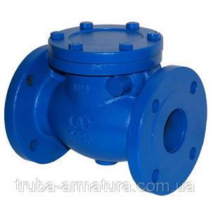 Обратный клапан поворотный фланцевый чугунный, Ду 100 / диск-чугун GG25 / PN16
