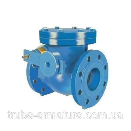 Зворотний клапан поворотний з противагою фланцевий чавунний, Ду 800 / диск-чавун GGG50 / PN16, фото 2