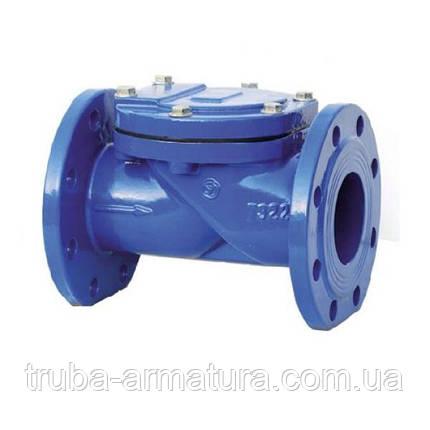 Зворотний клапан поворотний фланцевий чавунний, Ду 65 / тарілка-сталь + NBR / NBR / PN16, фото 2