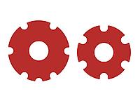 Наклейки на переднее колесо электросамоката Xiaomi M365/M365 Pro. Красные.