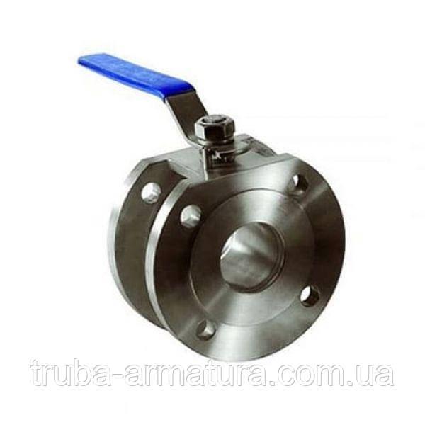 Кран нержавіючий кульовий фланцевий, Ду 20 / куля-нж сталь 316 / PTFE / PN16